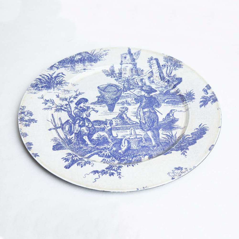 Bajo-plato-Toile-de-Jolie-flores-azul