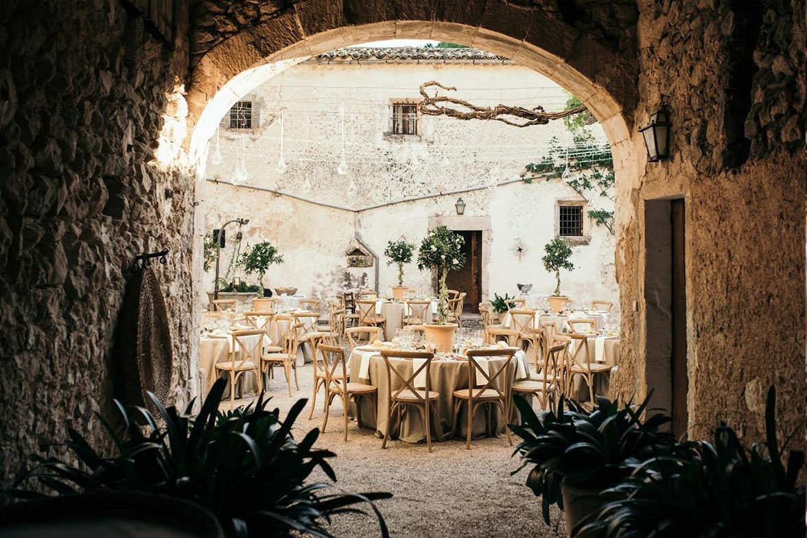 Patio mallorquin de boda
