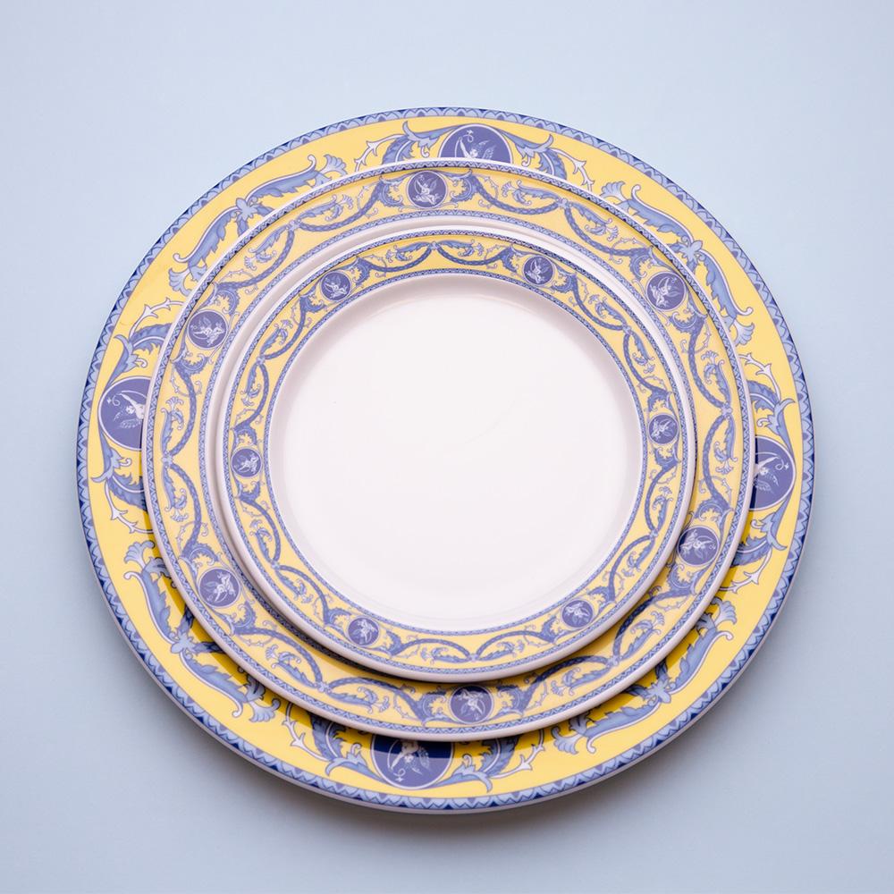 Plato-llano-Conjunto-amarillo-azul