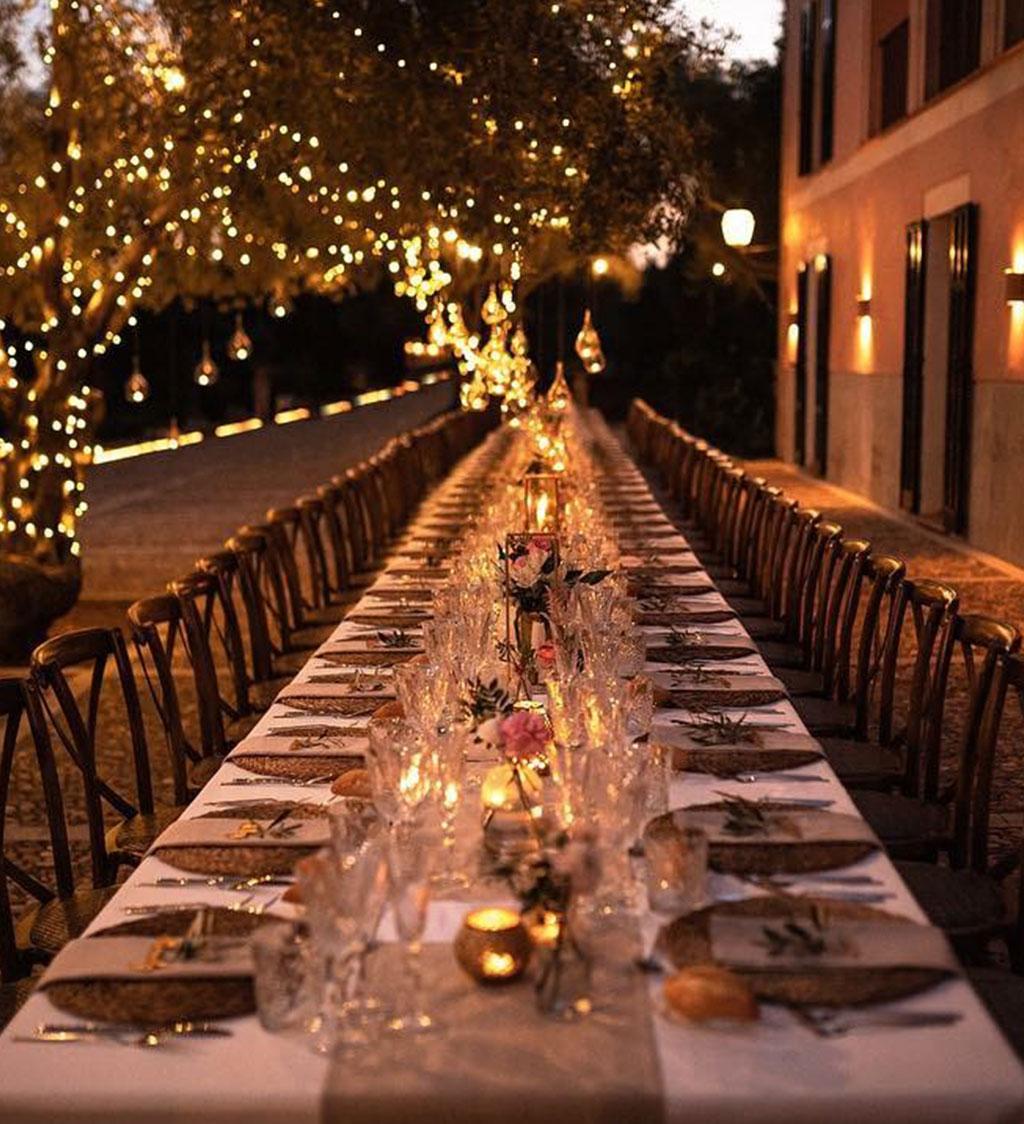Mesa de noche de boda